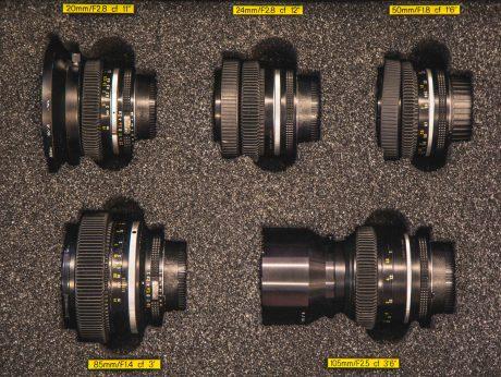 Nikkor AI EF Prime Lens Set